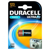 Батарейка DURACELL PHOTO ULTRA  M3 123, 1 шт